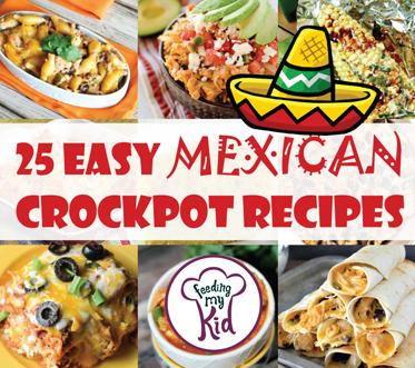 These Mexican crockpot recipes are amazing and will make the perfect meal for any occasion. Feeding My Kid is a great website for parents, filled with all the information you need about how to raise your kids, from healthy tips to nutritious recipes. #mexicanrecipes #mealtime #themenight