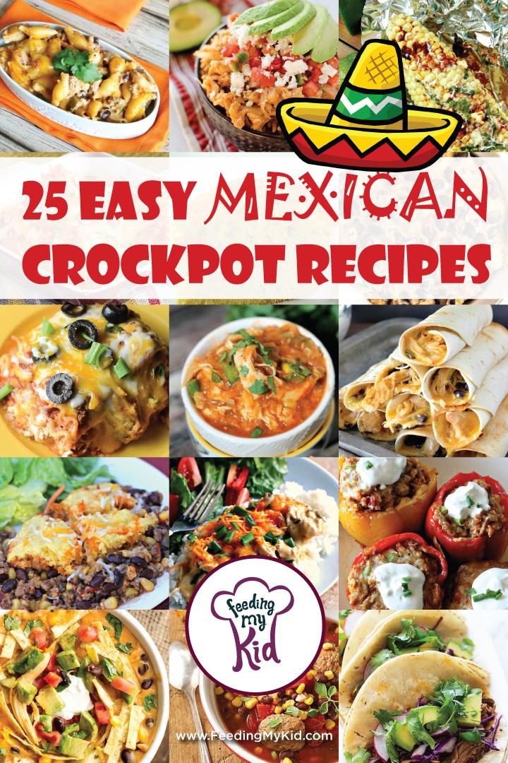 This is a must pin! These Mexican crockpot recipes are amazing and will make the perfect meal for any occasion. Feeding My Kid is a great website for parents, filled with all the information you need about how to raise your kids, from healthy tips to nutritious recipes. #mexicanrecipes #mealtime #themenight