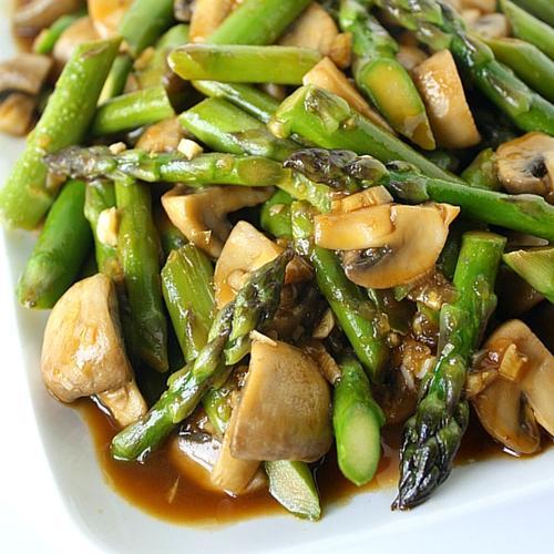 Asparagus And Mushroom Stir Fry
