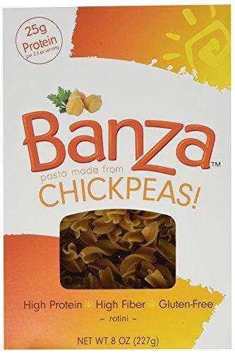 Banza Pasta Gluten-Free Rotini 8 Ounces 3 Pack