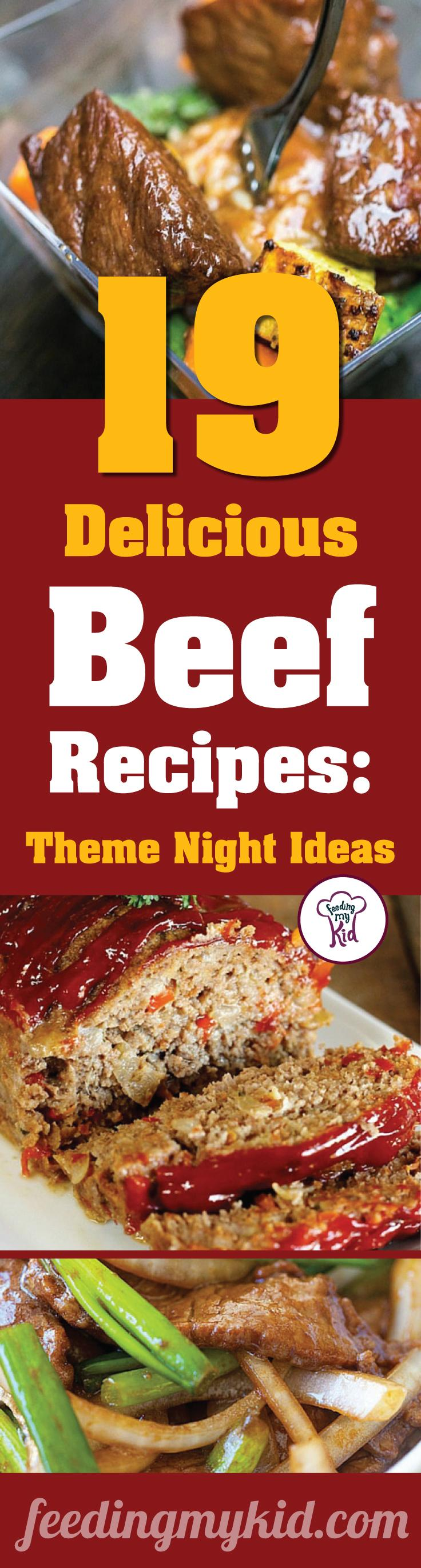 You'll want to share this! These beef recipes are warm and delicious and will make the perfect dinner for any occasion. Feeding My Kid is a great website for parents, filled with all the information you need about how to raise your kids, from healthy tips to nutritious recipes. #dinner #themenight
