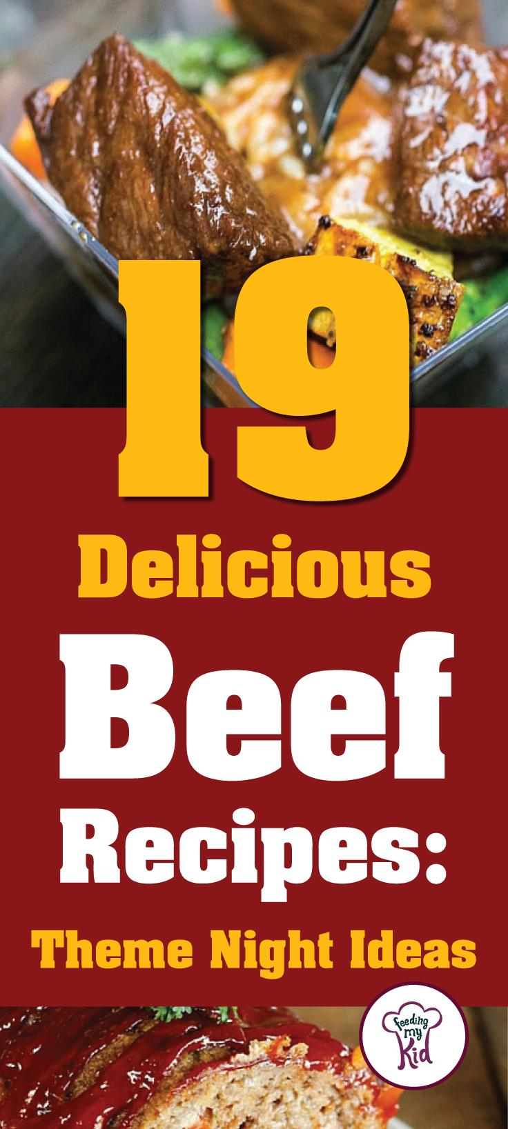 These beef recipes are warm and delicious and will make the perfect dinner for any occasion. Feeding My Kid is a great website for parents, filled with all the information you need about how to raise your kids, from healthy tips to nutritious recipes. #beefitswhatsfordinner #dinner #themenight