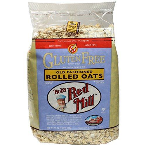 Bob's Red Mill Gluten Free Whole Grain, Rolled Oats, 32oz Bags