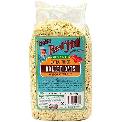 Bob's Red Mill Organic Oats Rolled Thick, 16-Ounce