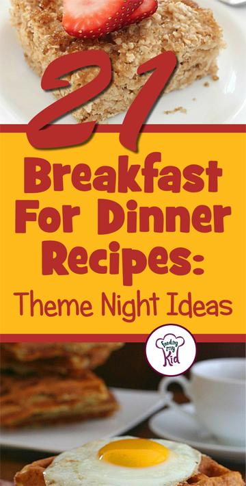 Try these great breakfast for dinner recipes! Feeding My Kid is a great website for parents, filled with all the information you need about how to raise your kids, from healthy tips to nutritious recipes.