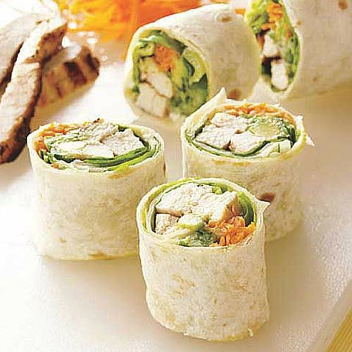 California Style Grilled Chicken Rolls