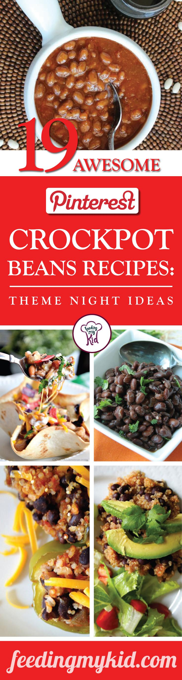 This is a must pin! These bean recipes will make the perfect theme night meal. Feeding My Kid is a great website for parents, filled with all the information you need about how to raise your kids, from healthy tips to nutritious recipes. #beanrecipe #mealtime #themenight