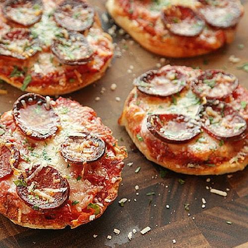 English Muffin Pepperoni Pizza