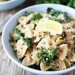 Goat-Cheese-Lemon-Pasta-With-Kale