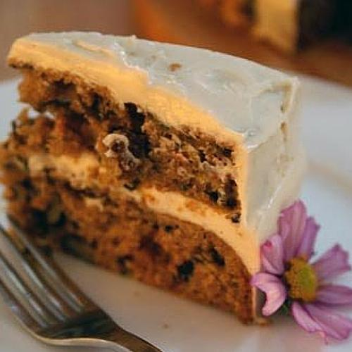 Harvest Cake With Goat Cheese Frosting