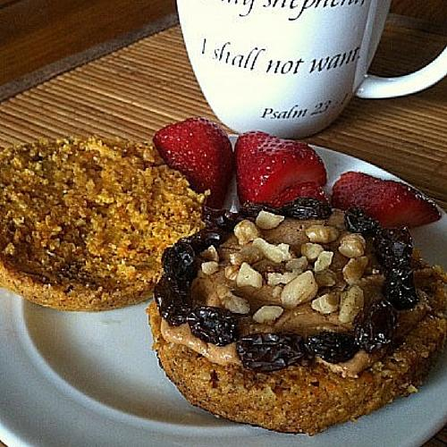 Healthy Carrot Cake English Muffin