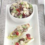 Healthy Chicken Salad With Grapes, Apples And Tarragon