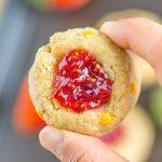 Healthy No Bake Thumbprint Cookies