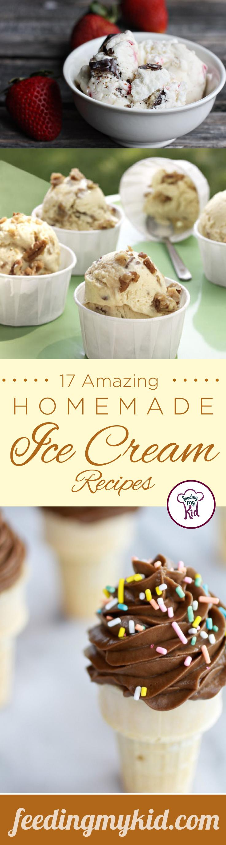 17 Amazing Homemade Ice Cream Recipes - There's nothing like making your own ice cream at home. It's the best way to make sure that what you and your kids eat isn't too bad. These recipes are a perfect treat for everyone!