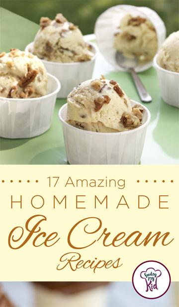 17 Amazing Homemade Ice Cream Recipes - To help get you going, we've created a list of 17 different homemade ice cream recipes, with everything from classic vanilla to lavender peach and even chocolate avocado ice cream!