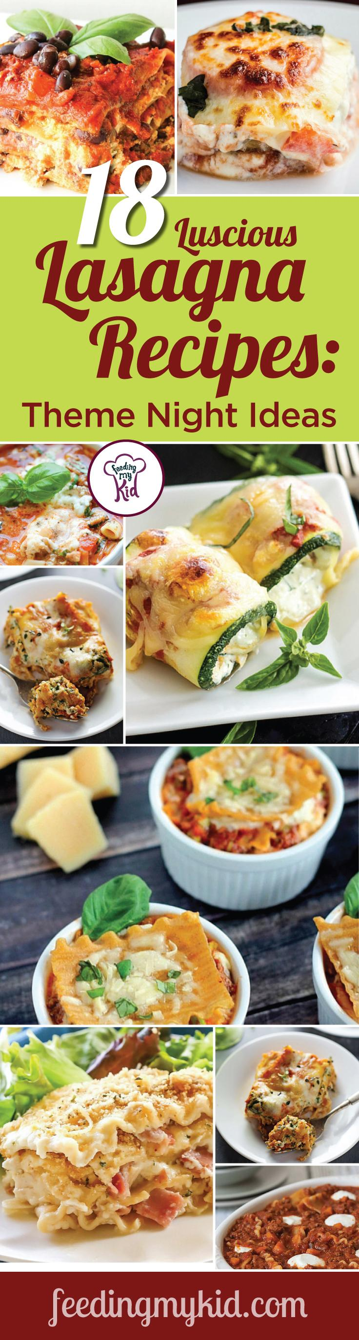 These easy lasagna recipes are warm and delicious and will make the perfect meal for any occasion. Feeding My Kid is a great website for parents, filled with all the information you need about how to raise your kids, from healthy tips to nutritious recipes. #lasagna #mealtime #themenight