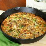 Leek, Broccoli And Mushroom Frittata