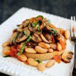 Mushroom, Tomato And Basil Ragout Recipe On English Muffin