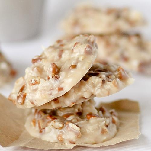 No Bake Coconut Pecan Praline Cookie