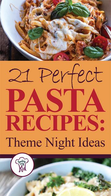 You'll want to try these great pasta recipes. Feeding My Kid is a great website for parents, filled with all the information you need about how to raise your kids, from healthy tips to nutritious recipes. #pasta #mealtime #themenight
