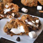 Smore Stuffed Cookies