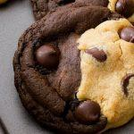 Soft Baked Peanut Butter Chocolate Swirl Cookies
