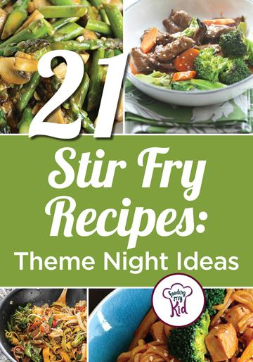 Try these great stir fry recipes, perfect for your theme night! Feeding My Kid is a great website for parents, filled with all the information you need about how to raise your kids, from healthy tips to nutritious recipes. #stirfry #themenight