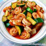 Sweet And Spicy Shrimp And Zucchini Stir Fry