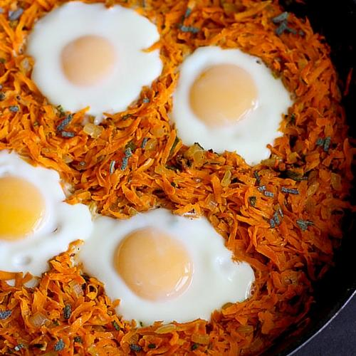 Sweet Potato Hash With Baked Eggs Recipe