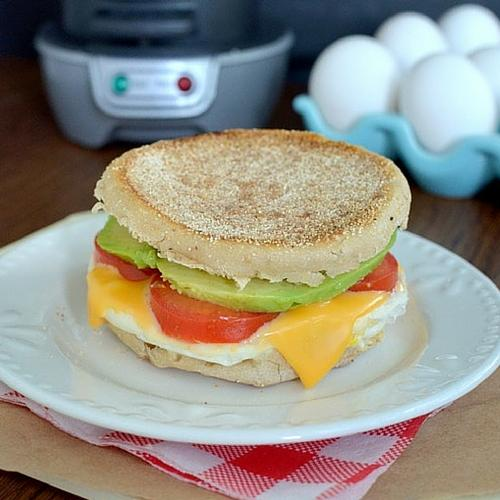 Tomato Avocado Egg Sandwich