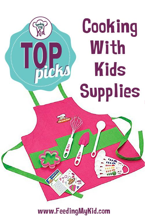 Top Picks: Cooking Supplies for Kids - If you want your child to be adventurous with eating, get them in the kitchen! With the list of cooking supplies below, your child can feel more independent by using their own cooking supplies, and you have the ease of mind that the tools they're using are age-appropriate.