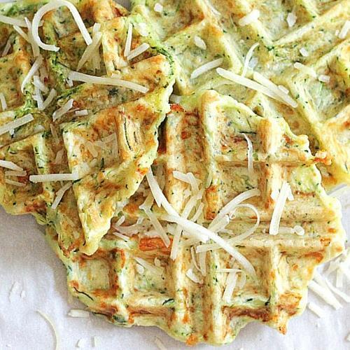 Zucchini Parmesan Waffle Fritters Recipe