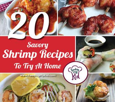 perfect meal for any occasion. Feeding My Kid is a great website for parents, filled with all the information you need about how to raise your kids, from healthy tips to nutritious recipes. #shrimprecipes #mealtime #themenight