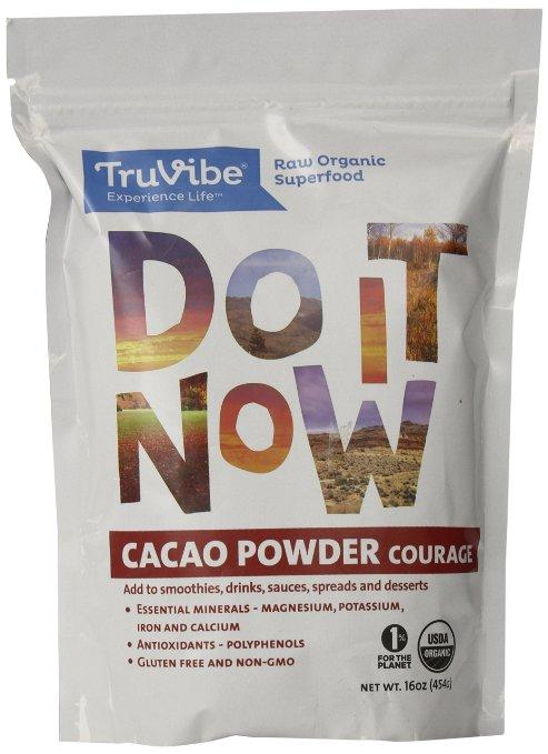 TruVibe 100% Organic Raw Cacao Powder