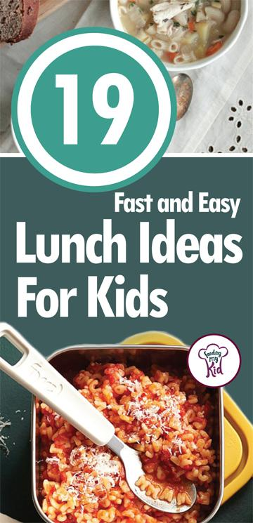 19 Fast and Easy Lunch Ideas For Kids - Lunch is usually a quick meal to consume, so shouldn't it be quick to make, too? We've ran into these dilemmas on quite a few occasions, so we felt it was our duty to share these pin-worthy recipes for your family. Here are 19 fast and easy lunch ideas for kids that are a breeze to make and a pleasure to consume!