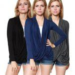 3-Pack: Free To Live Women's Lightweight Criss Cross Cardigans Regular And Plus Size