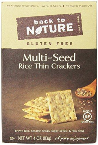 Back To Nature Gluten Free Rice Thins, Multi-Seed, 4 Ounce