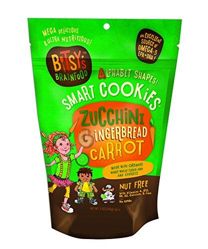 Bitsy's Brainfood Cookie Zucchini Gingerbread Carrot, 5 Ounce