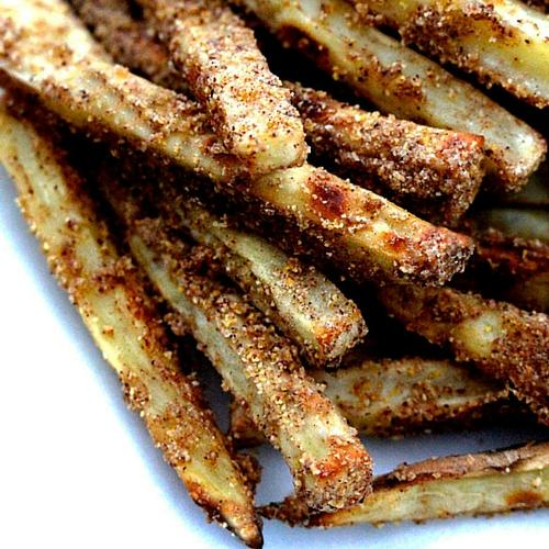 Brown Sugar And Cinnamon Sweet Potato Fries With Butterscotch Marshmallow Dip