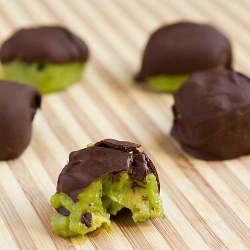 Chocolate Avocado Freeze Bites