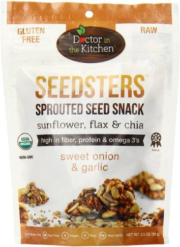 Doctor in the Kitchen Seedsters Sprouted Seed Snack, Sweet Onion and Garlic