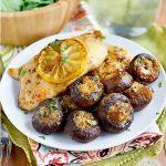 Easy Garlic Butter Roasted Mushrooms