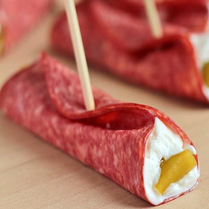 Easy Salami Roll Ups