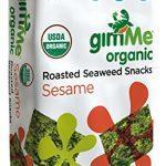 GimMe Health Foods Organic Roasted Seaweed Snacks, Sesame, 0.17 Ounce (Pack of 12)