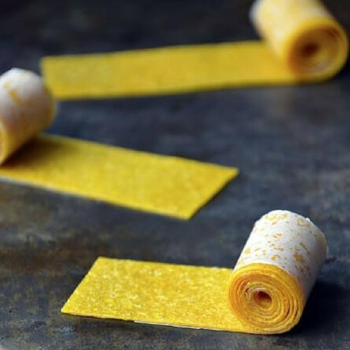 Healthy Homemade Mango Fruit Roll Ups