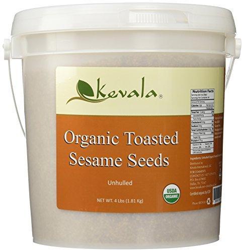 Kevala Organic Toasted Sesame Seeds 4Lbs
