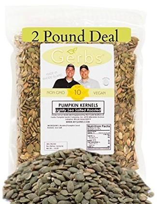 Lightly Sea Salted Pumpkin Seed Kernels by Gerbs - 2 LBS