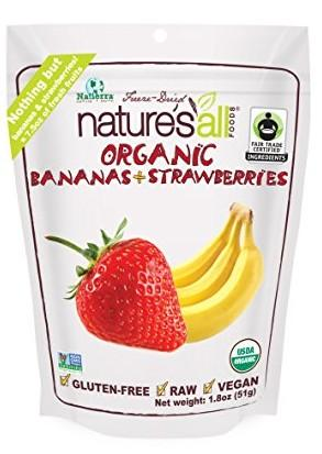 Nature's All Foods Freeze Dried Bananas And Strawberries, 1.8 Ounce