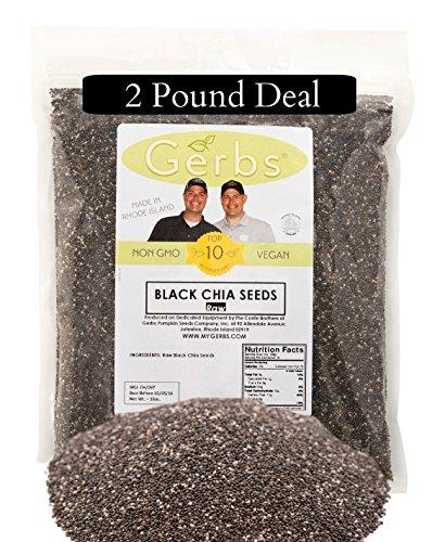 Raw Chia Seeds by Gerbs - 2 LBS