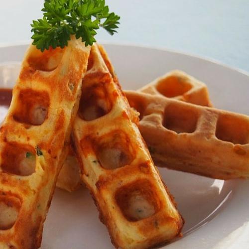 Savoury Waffle Sticks